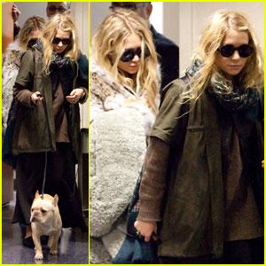 Mary-Kate & Ashley Olsen: Rainy LAX Arrival