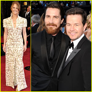 Mark Wahlberg & Christian Bale: Oscars 2011 with Melissa Leo