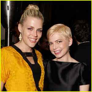 Michelle Williams & Busy Philipps: Audi Party Pals