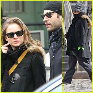 Natalie Portman &#038; Benjamin Millepied Walk Hand in Hand