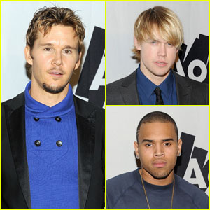 Ryan Kwanten & Chris Brown: AOL at The Maxim Party!