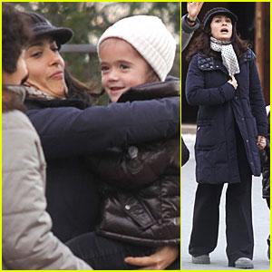 Salma Hayek: Stroll with Valentina & Grandma!
