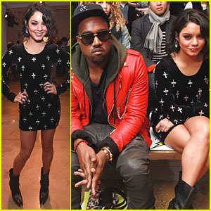 Vanessa Hudgens & Kanye West: Front Row at Jeremy Scott