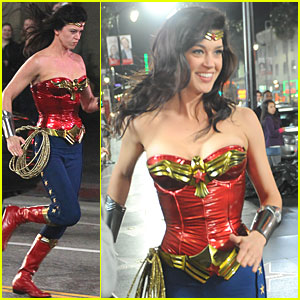 Adrianne Palicki Wonder Woman on Hollywood Boulevard!  sc 1 st  Just Jared & Adrianne Palicki: Wonder Woman on Hollywood Boulevard! | Adrianne ...