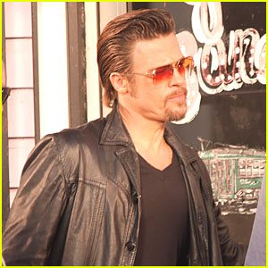 Brad Pitt: On The Set of 'Cogan's Trade'