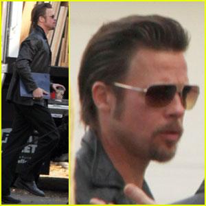 Brad Pitt Continues 'Cogan's Trade'