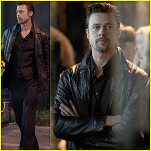 Brad Pitt: Late Night On Set of 'Cogan's Trade'