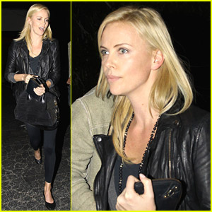 Charlize Theron Dines With A Mystery Male
