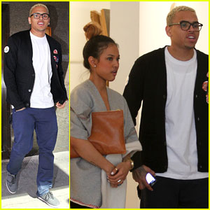 Chris Brown: Gallery Gazing with Karrueche Tran!