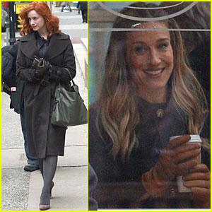 Christina Hendricks: Filming in Boston with Sarah Jessica Parker!
