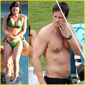 Courteney Cox & Josh Hopkins: 'Cougar Town' Twosome!