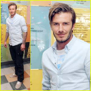 David Beckham: Children's Hospital L.A. Visit!