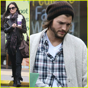 Demi Moore & Ashton Kutcher Spend Saturday at the Spa