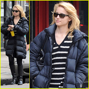 Dianna Agron: Newsstand Pit Stop