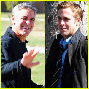George Clooney & Ryan Gosling: 'Ides of March' Miami Men