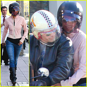 Halle Berry: Motorcycle Ride with Olivier Martinez!