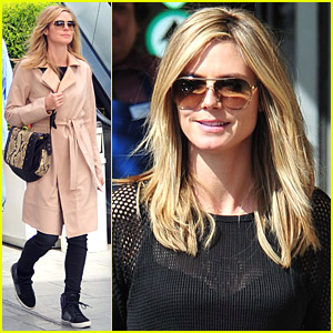 Heidi Klum Goes Out For Groceries