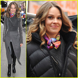 Hilary Swank Shoots 'New Year's Eve'