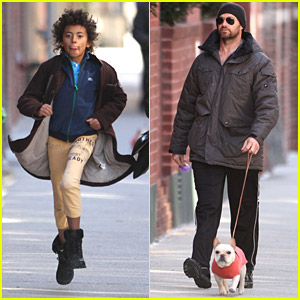 Hugh Jackman Walks Around The West Village
