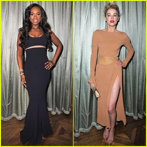 Jennifer Hudson & Amber Heard: Michael Kors Dinner!