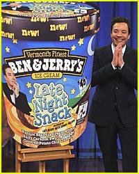 Jimmy Fallon Debuts Ben & Jerry's Ice Cream Flavor