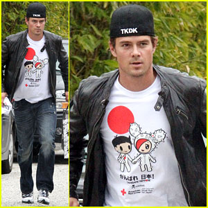 Josh Duhamel Shows Support for Japan