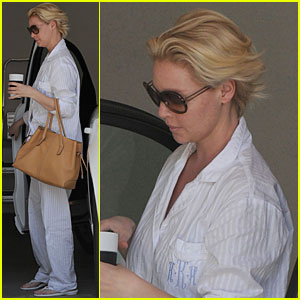 Katherine Heigl: Coffee Run in PJs!