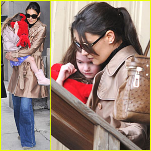 Katie Holmes & Suri Cruise: Helicopter Departure!
