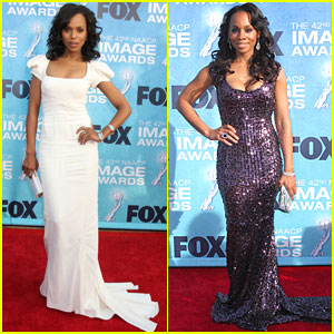 Kerry Washington & Anika Noni Rose: NAACP Image Awards!