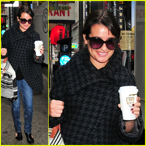 Lea Michele: Coffee Break for 'New Year's Eve'