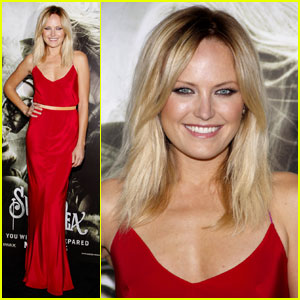 Malin Akerman: The Lady In Red At 'Sucker Punch'