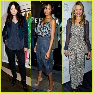Michelle Trachtenberg: Rebecca Taylor Flagship Opening!