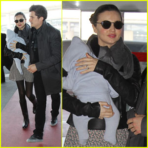 Miranda Kerr & Orlando Bloom Take Flight with Flynn
