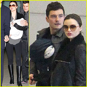 Miranda Kerr: Paris with Orlando Bloom & Flynn!