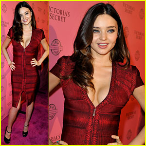 Miranda Kerr: Victoria's Secret Pink Carpet!