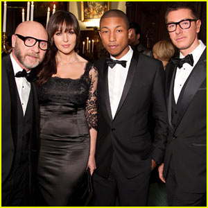 Monica Bellucci & Pharrell: Dolce & Gabbana Sandwich!