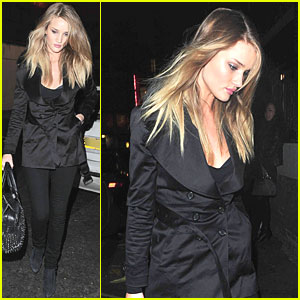 Rosie Huntington-Whiteley: Soho with Jason Statham!