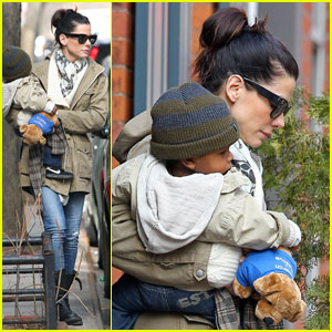 Sandra Bullock: Saturday in Soho with Louis