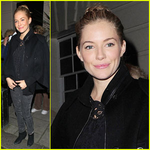 Sienna Miller: Fan Friendly at 'Flare Path' Opening Night