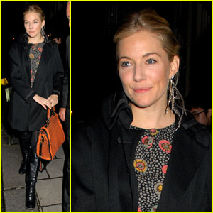 Sienna Miller: Friday at 'Flare Path'