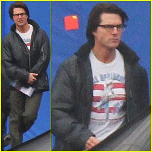 Tom Cruise: Bruce Springsteen Tee on 'M:I' Set!