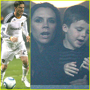 Victoria Beckham & Cruz Watch David's Galaxy Game