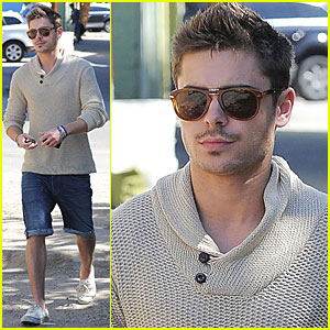 Zac Efron Short Hair New Years Eve