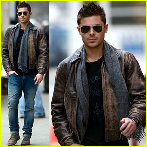 Zac Efron: Fan Friendly on 'New Year's Eve' Set!