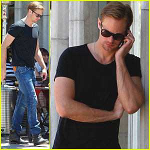 Alexander Skarsgard: Lunch Break at Joan's on Third