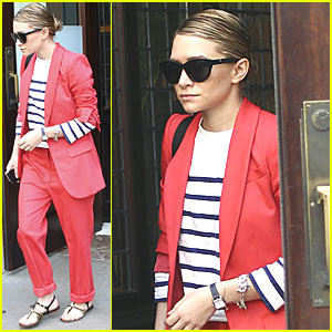 Ashley Olsen Shows Her Stripes