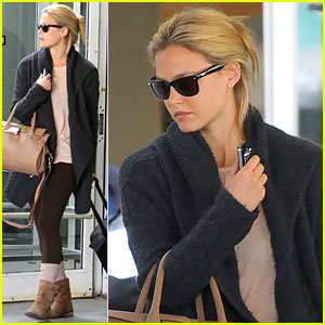Bar Refaeli: New York Arrival with Leonardo DiCaprio!
