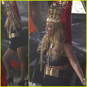 Beyonce: Music Video Shoot in Los Angeles!