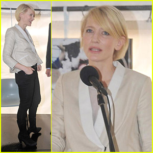 Cate Blanchett Launches Oasis Homeless Short Film Competition Cate Blanchett Just Jared