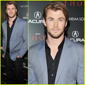 Chris Hemsworth: 'Thor' Screening in New York City!
